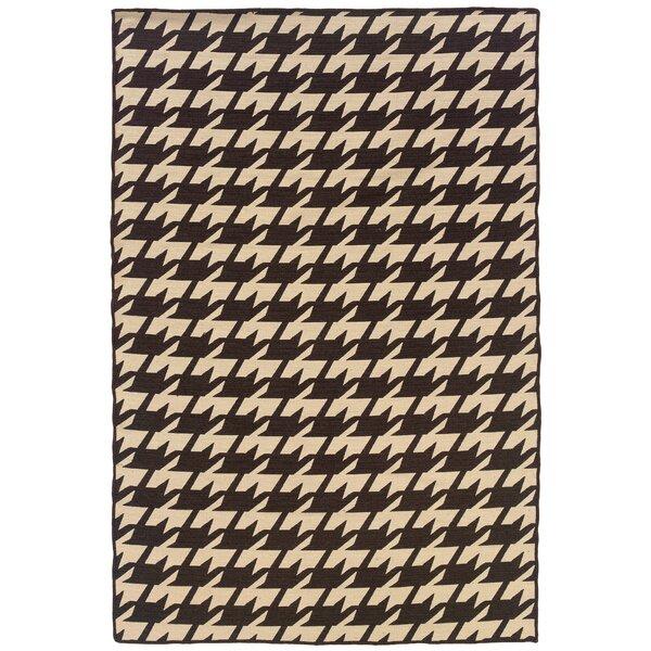 Corrigan Studio Destinee Geometric Handmade Tufted 5 X 8 Wool Brown Beige Area Rug Wayfair