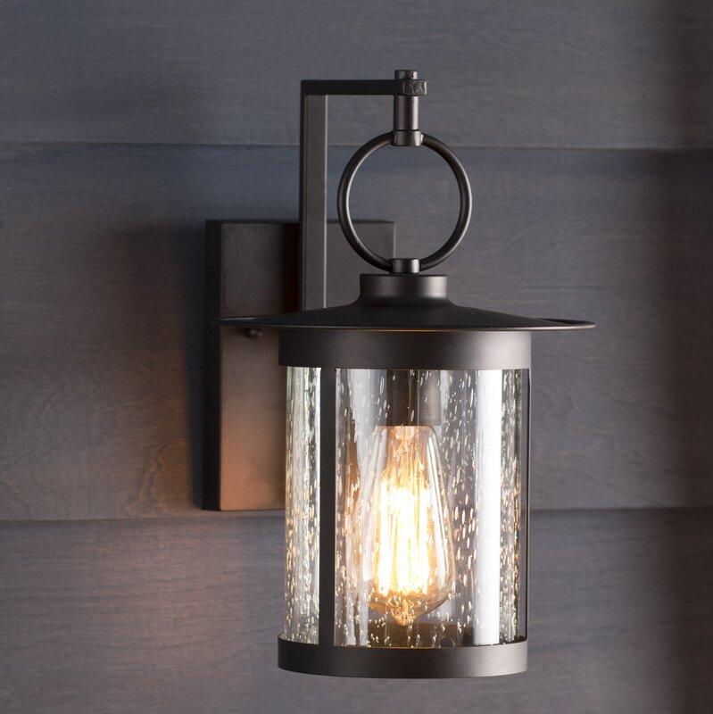 Gracie oaks lavardens 1 light outdoor wall lantern reviews wayfair lavardens 1 light outdoor wall lantern workwithnaturefo