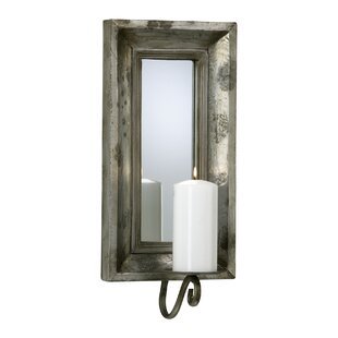 Gl And Wood Abelle Candle Mirror Wall Sconce