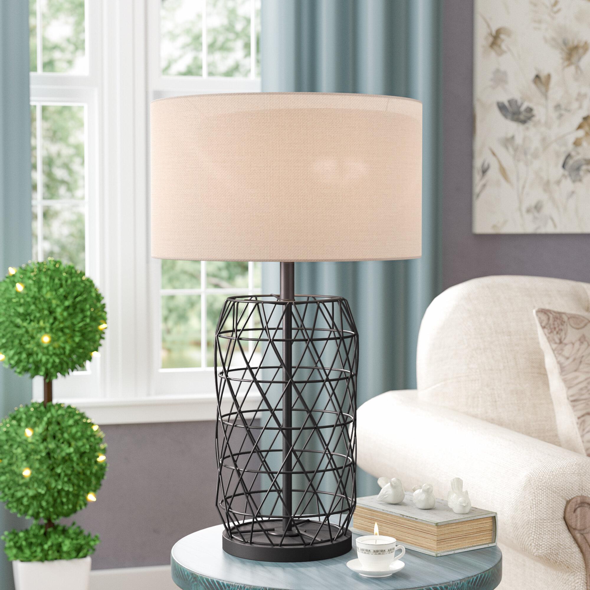 Laurel Foundry Modern Farmhouse Hershel 27 Table Lamp Reviews Wayfair