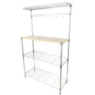 Elbridge 4 Tier Baker's Rack Microwave Cart