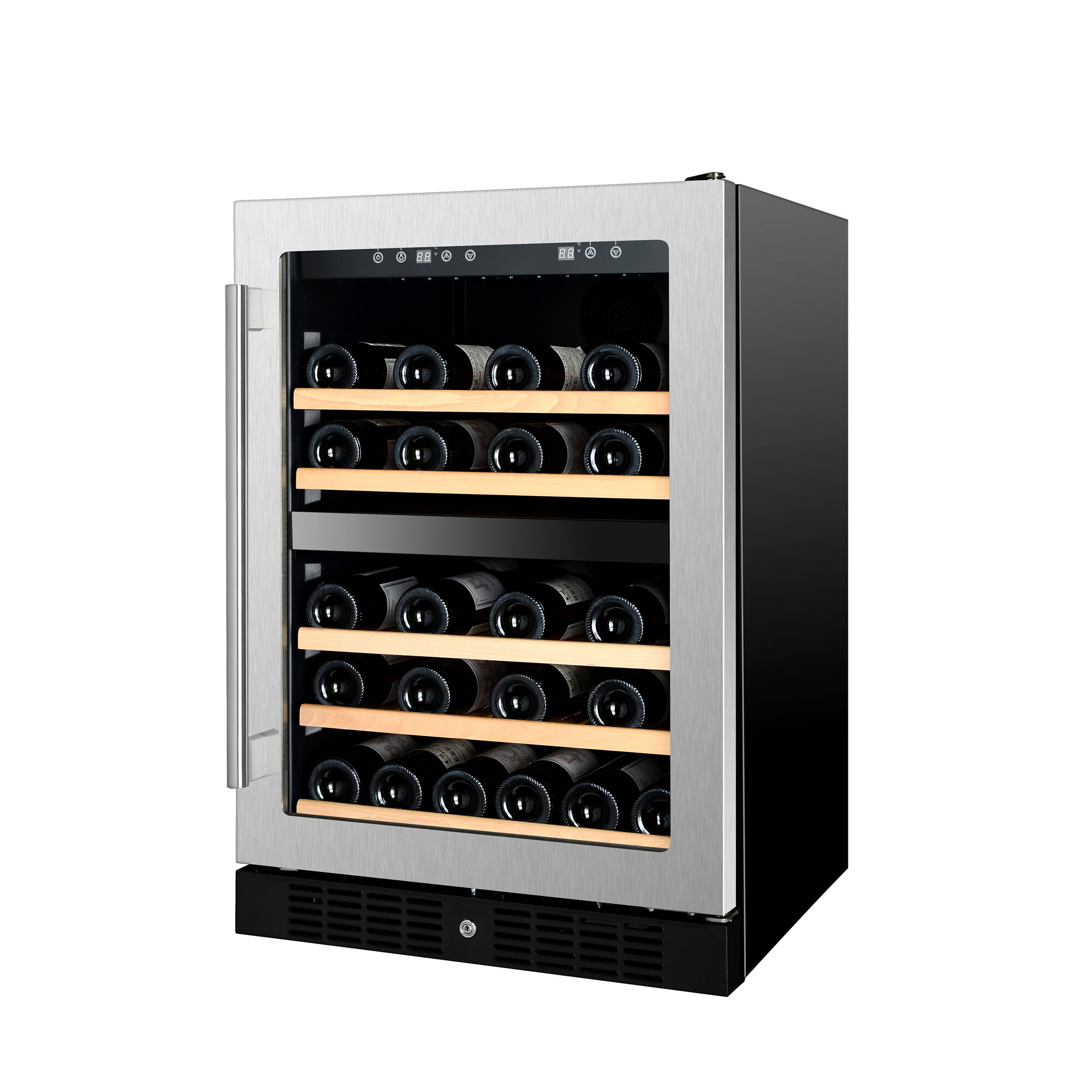 Kucht 54 Bottle Under The Counter Dual Zone Freestanding Wine Cooler