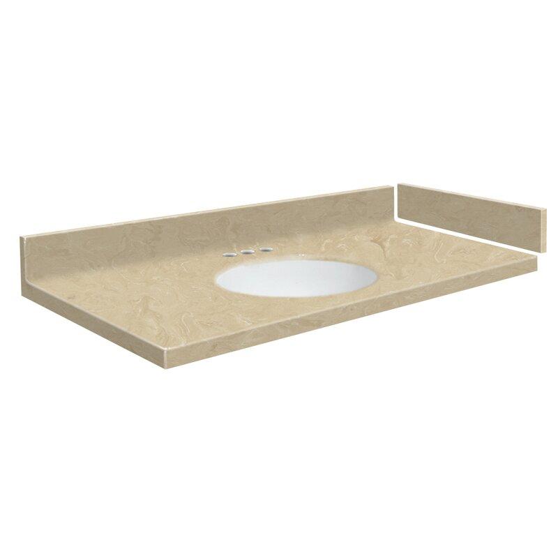 Transolid Newport 56 Solid Surface Single Bathroom Vanity Top Wayfair