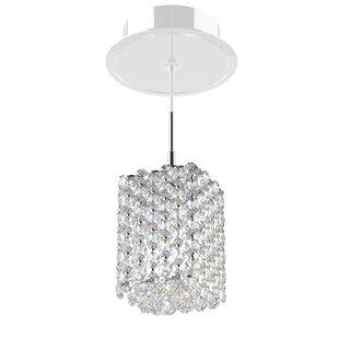 Refrax 1 Light Mini Crystal Pendant By Schonbek