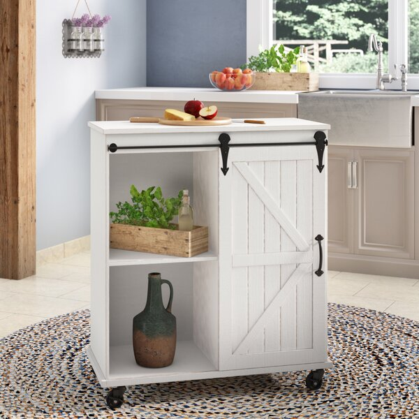 Farmhouse style bar cart