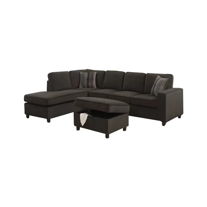 Enjoyable Barksdale Right Hand Facing Sectional With Ottoman Short Links Chair Design For Home Short Linksinfo