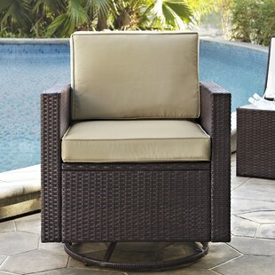 Belton Swivel Patio Chair with Cushion