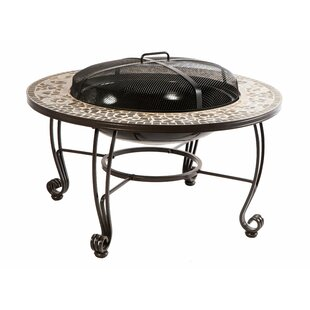 Alfresco Home Vulcano Metal Wood Burning Fire Pit Table