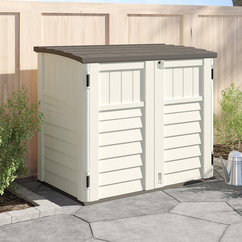 Suncast Outdoor 4 ft. 5 in. W x 2 ft. 9 in. D Horizontal Storage Shed