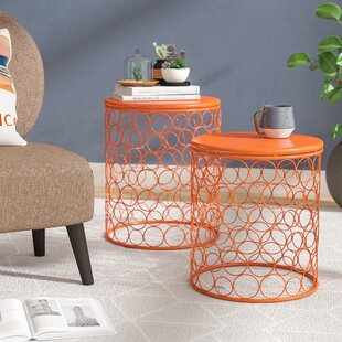 Quisenberry 2 Piece Accent Stool Set by Wrought Studio