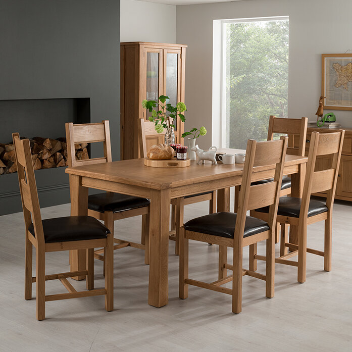 Homestead Living Brooklyn Extendable Dining Table And 6 Chairs