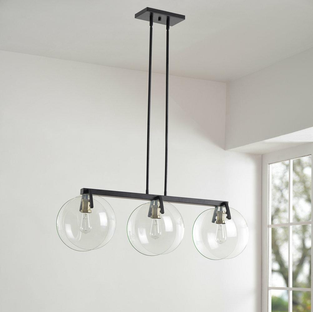 Wrought Studio 3 Light Kitchen Island Linear Pendant Reviews Wayfair