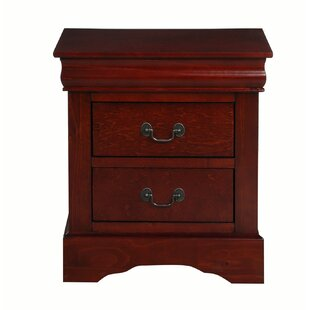 Ricciardi Transitional Classic 2 Drawer Nightstand