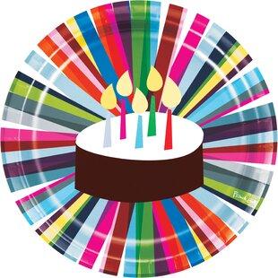 Birthday Cake Paper Dinner Plate (Set of 10)