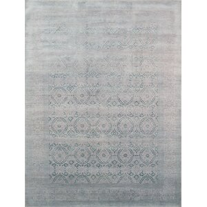 Transitional Hand-Knotted Area Rug