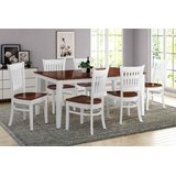 Leisa 7 Piece Solid Wood Dining Set by August Grove®
