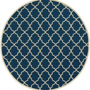 Alford Blue/Ivory Indoor/Outdoor Area Rug