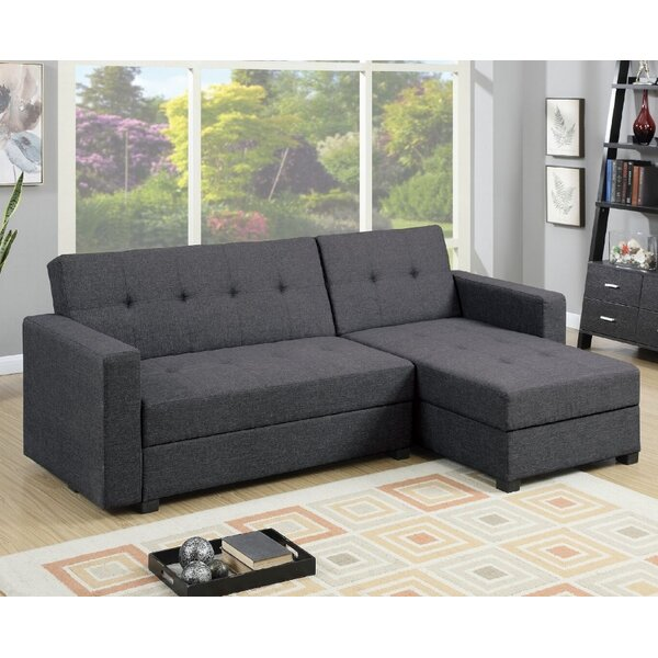 sofa storage chaise brown seat with sectional sleeper small leather reviews