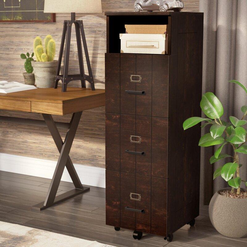 Kaj 3 Drawer Vertical Filing Cabinet