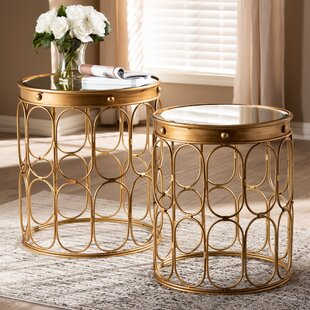 Clemmer 2 Piece Nesting Tables by Bungalow Rose