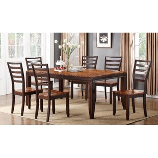 Lannon Contemporary Drop Leaf Solid Wood Dining Table Alcott Hill