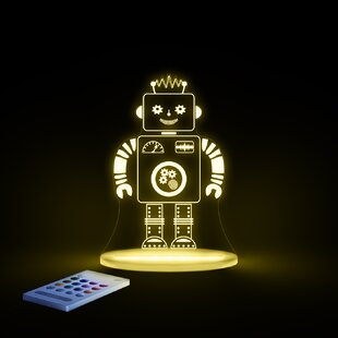 Find Aloka Starlight Robot LED 3-Light Night Light with Remote Control By Lumenico