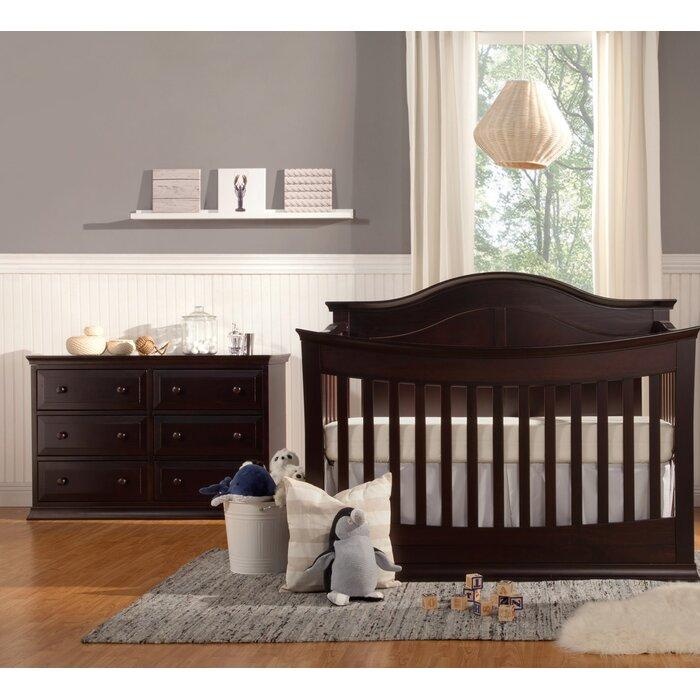 Meadow 4 In 1 Convertible 2 Piece Nursery Furniture Set