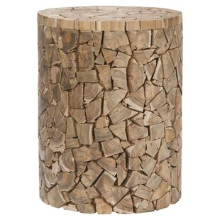 Safavieh Leo Teak Accent Stool