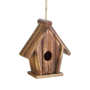 Zingz & Thingz Classic Rustic Wood 8 in x 7 in x 3.5 in Birdhouse