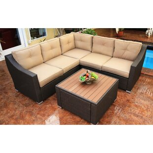Tampa Sunbrella Sectional Seating Group with Cushions by World Wide Wicker