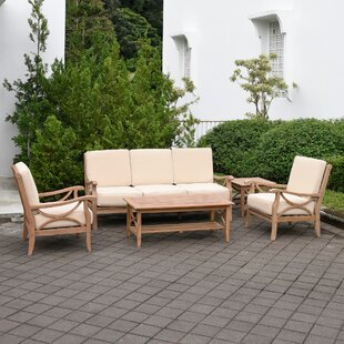 Coronel 5 Piece Teak Deep Seating Group with Cushions by Gracie Oaks