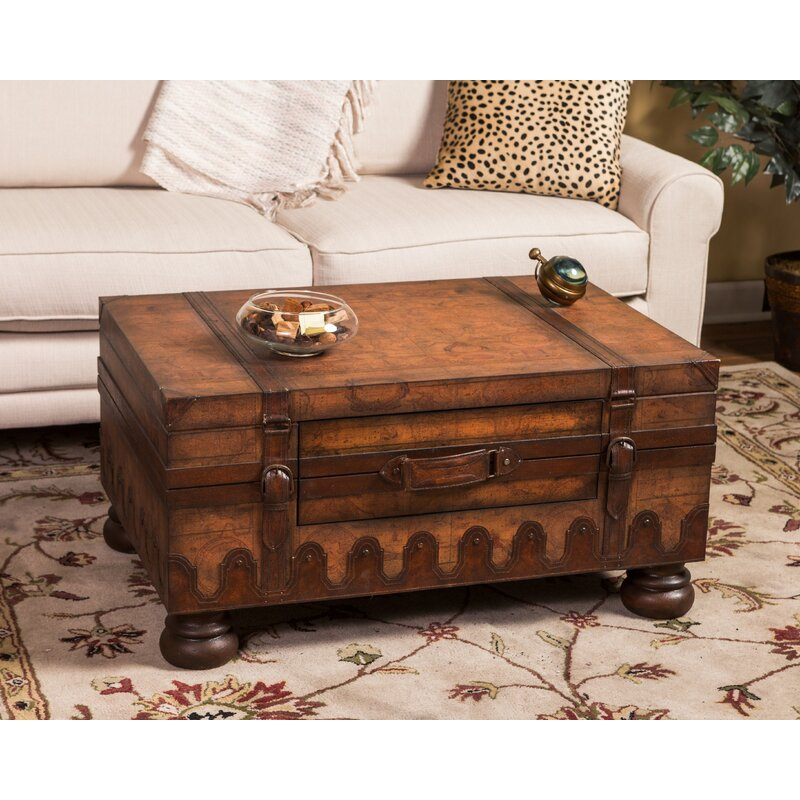 Loon Peak® Wiersma 4 Legs Coffee Table With Storage & Reviews Wayfair