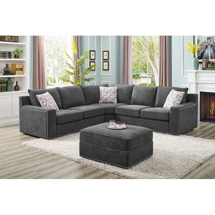Groovy Makah 4 Seater Sectional Sofa With Ottoman Ibusinesslaw Wood Chair Design Ideas Ibusinesslaworg