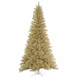 75 whitegold tinsel christmas tree - Gold Christmas Tree