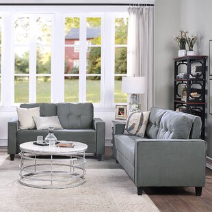 Living Room Sofa Set Morden Style Couch Furniture Upholstered Loveseat And Sofa For Home Or Office by Latitude Run