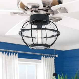 Ceiling fan light kits youll love wayfair traditional 1 light fitter ceiling fan light kit aloadofball Images