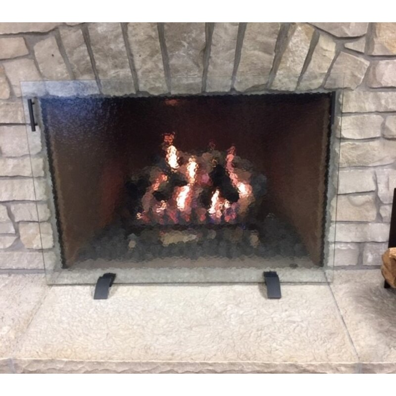 Hearth Craft Freestanding 1 Panel Glass Fireplace Screen Wayfair