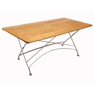 Pinder Folding Solid Wood Dining Table by Williston Forge
