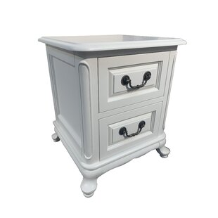 Priscila 2 Drawer Bedside Table By House Of Hampton
