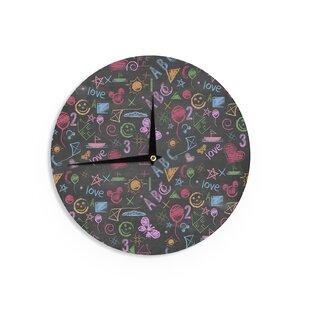 Snap Studio 'Kindergarden Crazy' 12 Wall Clock by East Urban Home