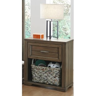 Logan 1 Drawer Nightstand by My Home Furnishings