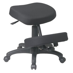 Ergonomically Height Adjustable Kneeling Chair With Dual Wheel by Office Star Products 2019 Sale