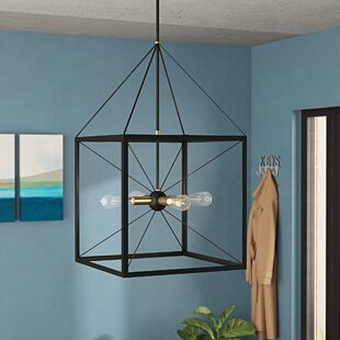 Hiram 4-Light Lantern Chandelier by Wroug..