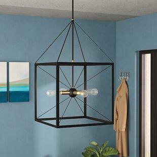Hiram 4-Light Lantern Chandelier by Wrought Studio