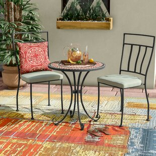 Bloomsbury Market Pavel 3 Piece Bistro Set with Cushion