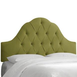 Hoddesdon Tufted Velvet Upholstered Panel Headboard by House of Hampton