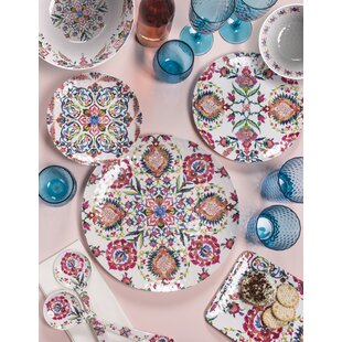 Phair Floral 12 Piece Melamine Dinnerware Set, Service for 4