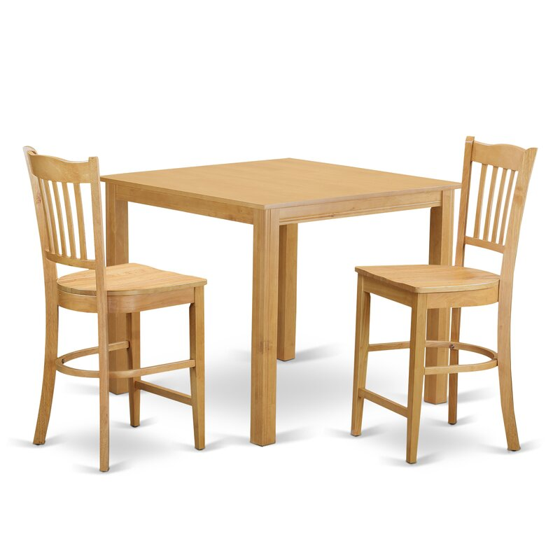 White Cane Outdoor Furniture, East West Cafe Counter Height Dining Set Wayfair