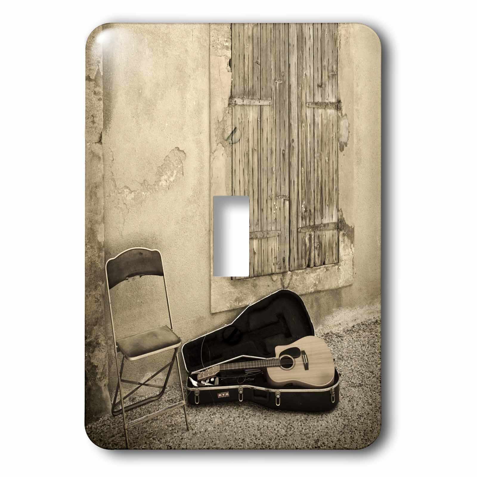 3drose Still Life With Guitar Village Window France 1 Gang Toggle Light Switch Wall Plate Wayfair