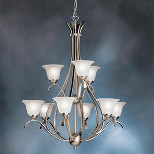 Alcott Hill Cayman 9-Light Shaded Chandelier